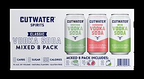 Cutwater Spirits - Vodka Soda Mixed 8-Pack
